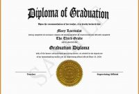 Best Of Free Printable Diploma Template  Best Of Template in Free Printable Graduation Certificate Templates