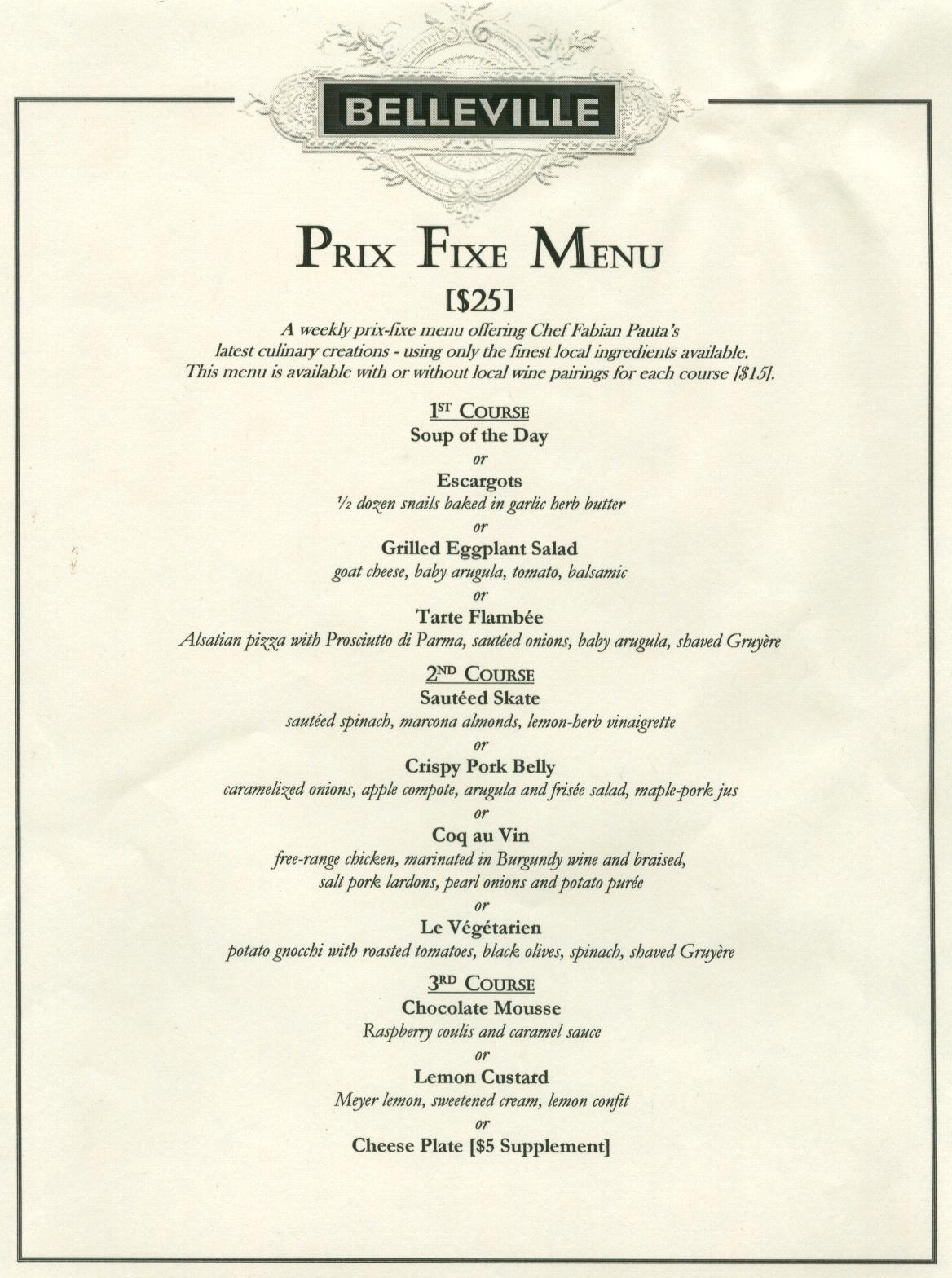 Best Photos Of Fixed Menu For Restaurant  Prix Fixe Menu In Prix Fixe Menu Template