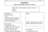 Best Photos Of Writing Newspaper Article Template  Newspaper For in Report Writing Template Ks1