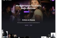 Best Responsive Music Website Templates   Colorlib within Record Label Website Template Free