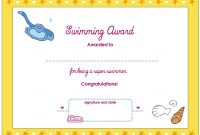 Best Solutions For Swimming Certificate Templates Free About Free within Swimming Certificate Templates Free