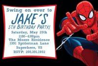 Best  Spiderman Invitation Templates Designs  Invitations within Superhero Birthday Card Template
