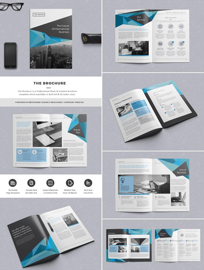 Beste Indesignbroschürenvorlagen  Für Kreatives Businessmarketing Intended For Brochure Template Indesign Free Download