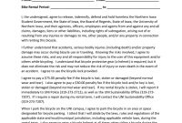 Bicycle Rental Agreement  Release inside Bicycle Rental Agreement Template