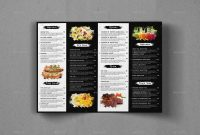 Bifold Food Menu Brochure Templategeelator  Graphicriver intended for Bi Fold Menu Template