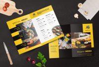 Bifold Restaurant Menu Template Inside Product Menu Template