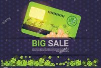 Big Sale For St Patrick Day Holiday Poster Template Credit Card with Credit Card Templates For Sale