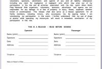 Bike Rental Waiver Form  Form  Resume Examples Pvmvqlpaj within Bicycle Rental Agreement Template