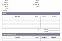 Bill Template Hvac Service Free Invoice Marvelous Ideas Pdf Tree inside Hvac Service Invoice Template Free