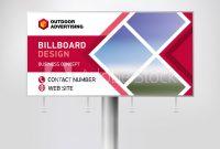 Billboard Design Banner Layout For Outdoor Advertising Template inside Outdoor Banner Design Templates