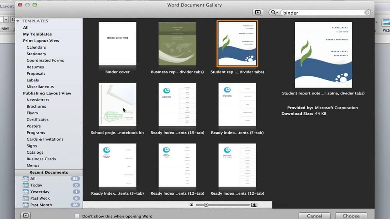 Binder Spine Label Templates In Word Format  Template Archive With Binder Label Template