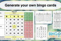 Bingo Card Generator Excel Tutorial  Youtube for Blank Bingo Card Template Microsoft Word