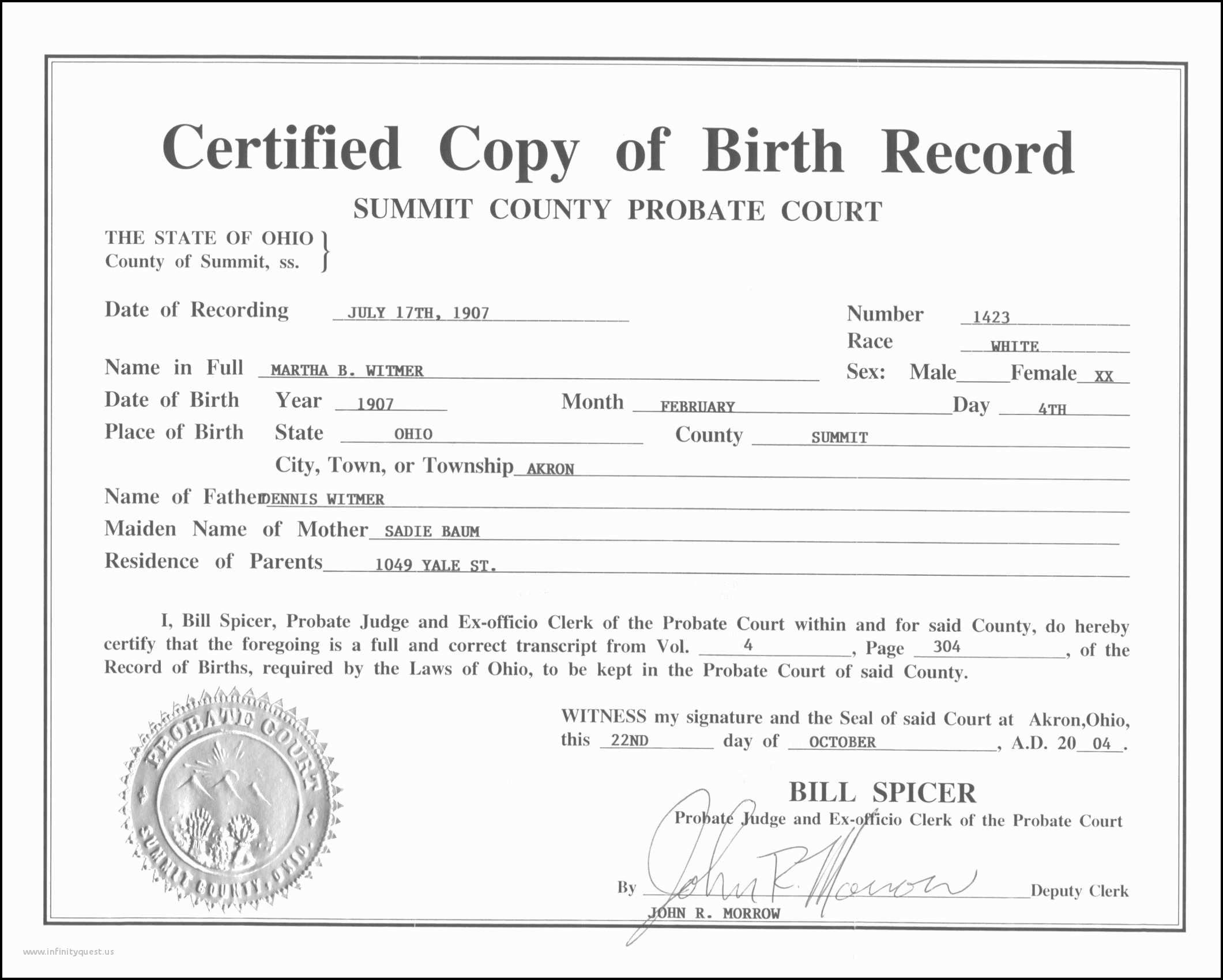 Birth Certificates Colorado Uncomparable Amazing Colorado Birth With Novelty Birth Certificate Template