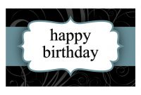 Birthday Card Blue Ribbon Design Halffold for Greeting Card Template Powerpoint
