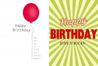 Birthday Card Template Boy  Theveliger regarding Foldable Birthday Card Template