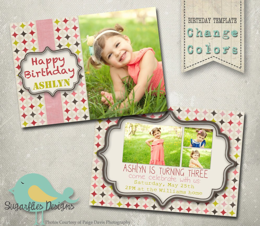Birthday Card Template Photoshop Ideas Il Fullxfull Pertaining To Photoshop Birthday Card Template Free