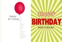 Birthday Card Template Word Document  Blank Microsoft Text within Birthday Card Template Microsoft Word