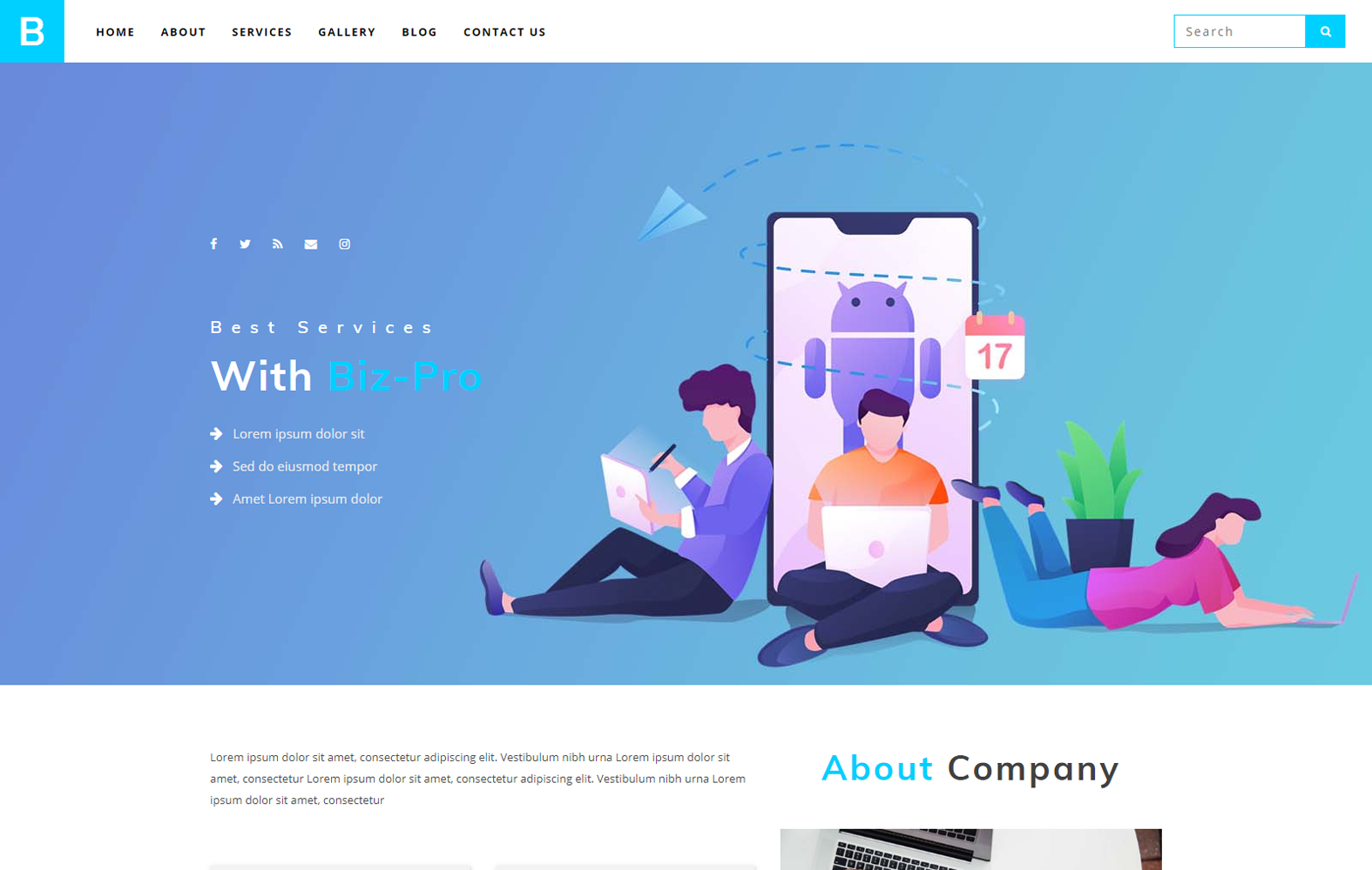 Biz Pro A Corporate Category Bootstrap Responsive Web Template Intended For Bootstrap Templates For Business