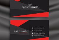 Black And Red Business Card Template With Vector Image for Visiting Card Templates Download