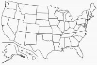 Black And White Map Of Us  Maplewebandpc inside Blank Template Of The United States