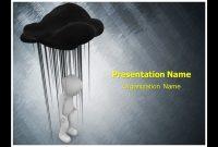 Black Cloud Depression Powerpoint Template Ppt Design throughout Depression Powerpoint Template