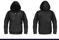 Black Hoodie  Mockup Vector Images inside Blank Black Hoodie Template