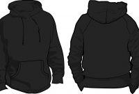 Black Hoodie Template Images  Black Blank Hoodie Template Black within Blank Black Hoodie Template
