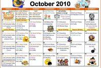Blank Activity Calendar Template New Activity Calendar Template intended for Blank Activity Calendar Template