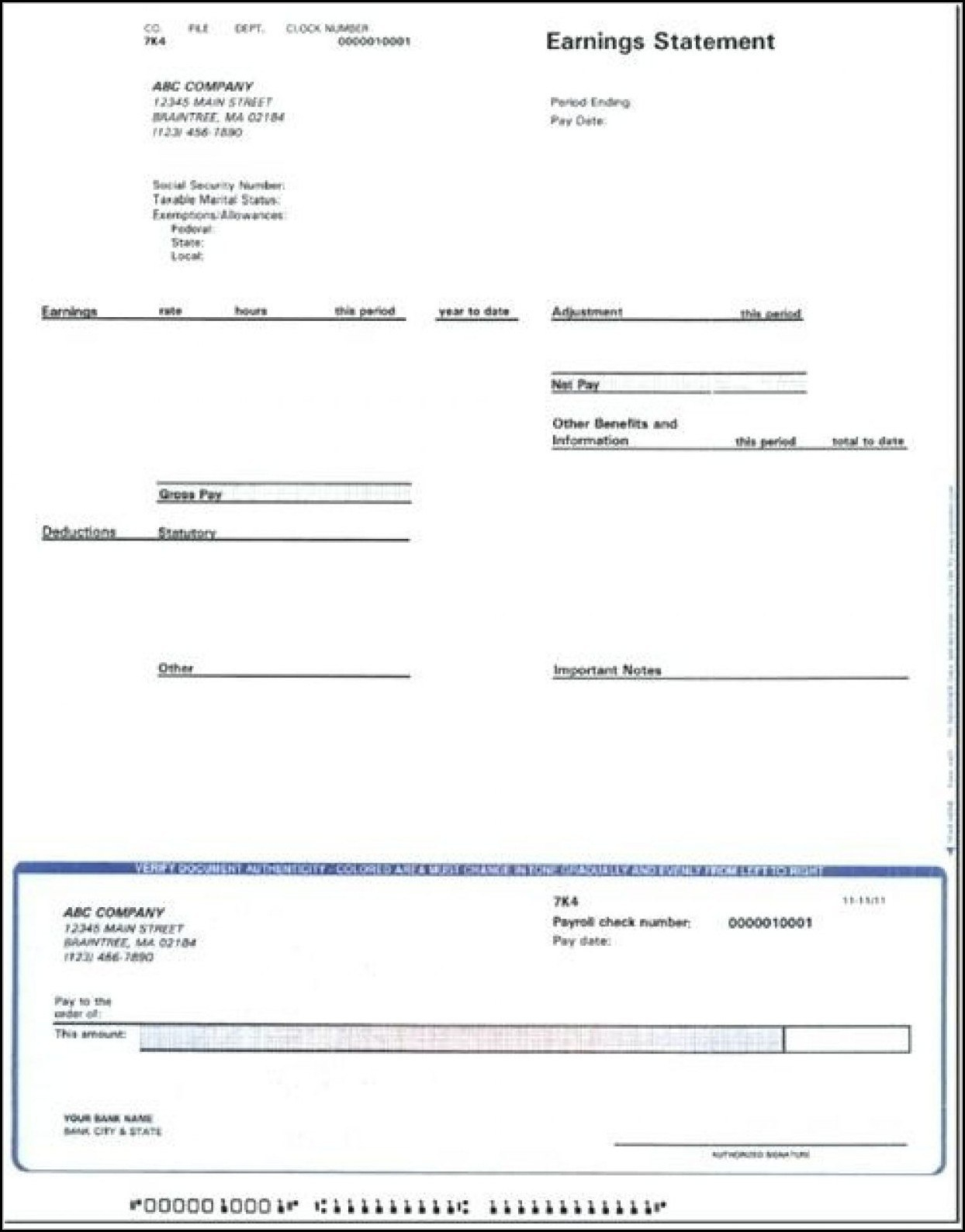 Blank Adp Pay Stub Template  Template   Resume Examples Oxrxykdr Pertaining To Blank Pay Stub Template Word