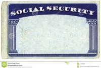 Blank American Social Security Card Stock Photo  Image Of Isolated intended for Ssn Card Template