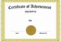 Blank Award Certificate Template Shocking Ideas Free Templates with Award Certificate Template Powerpoint