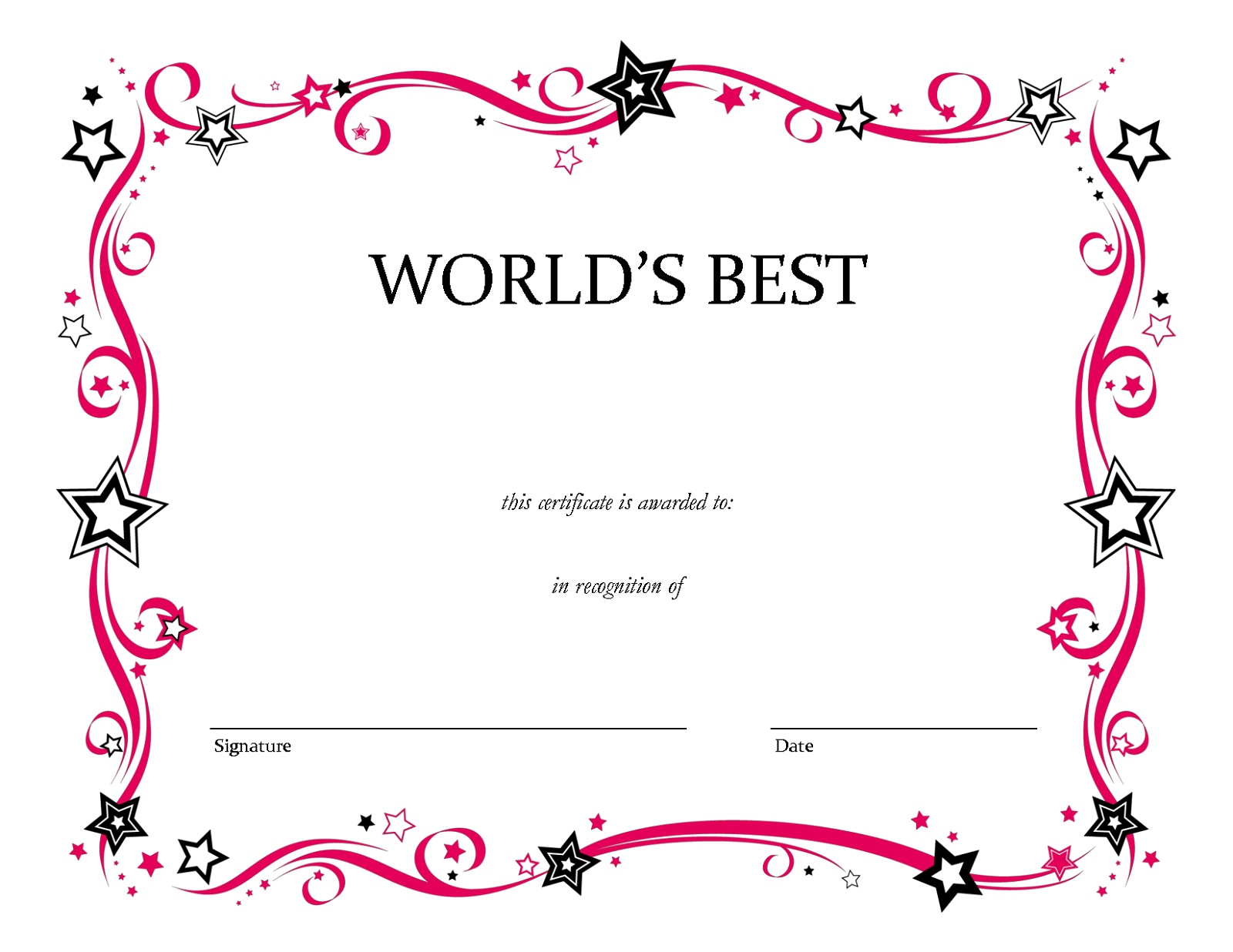 Blank Award Certificate Template Shocking Ideas Printable Music Within Best Teacher Certificate Templates Free