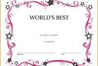 Blank Award Certificate Template Shocking Ideas Templates within Free Printable Blank Award Certificate Templates