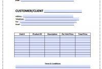 Blank Bill Template Ee Printable Invoice Templates Excel Utility Uk regarding Free Bill Invoice Template Printable