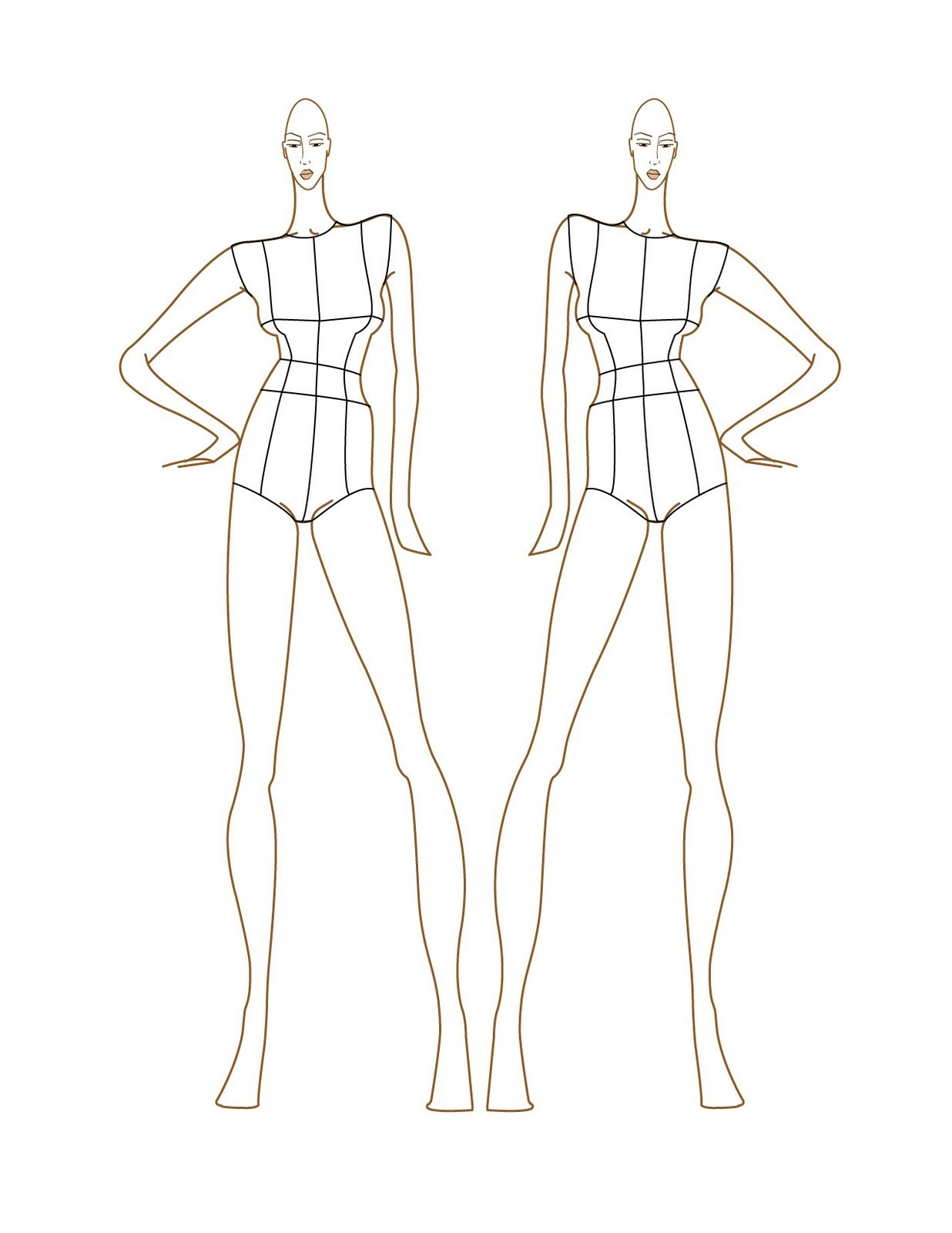 Blank Body Sketch At Paintingvalley  Explore Collection Of With Blank Model Sketch Template