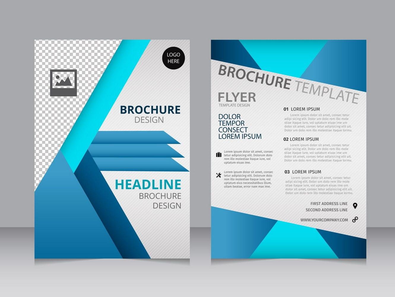 Blank Brochure Templates Free Download Word Template In Microsoft Word Brochure Template Free