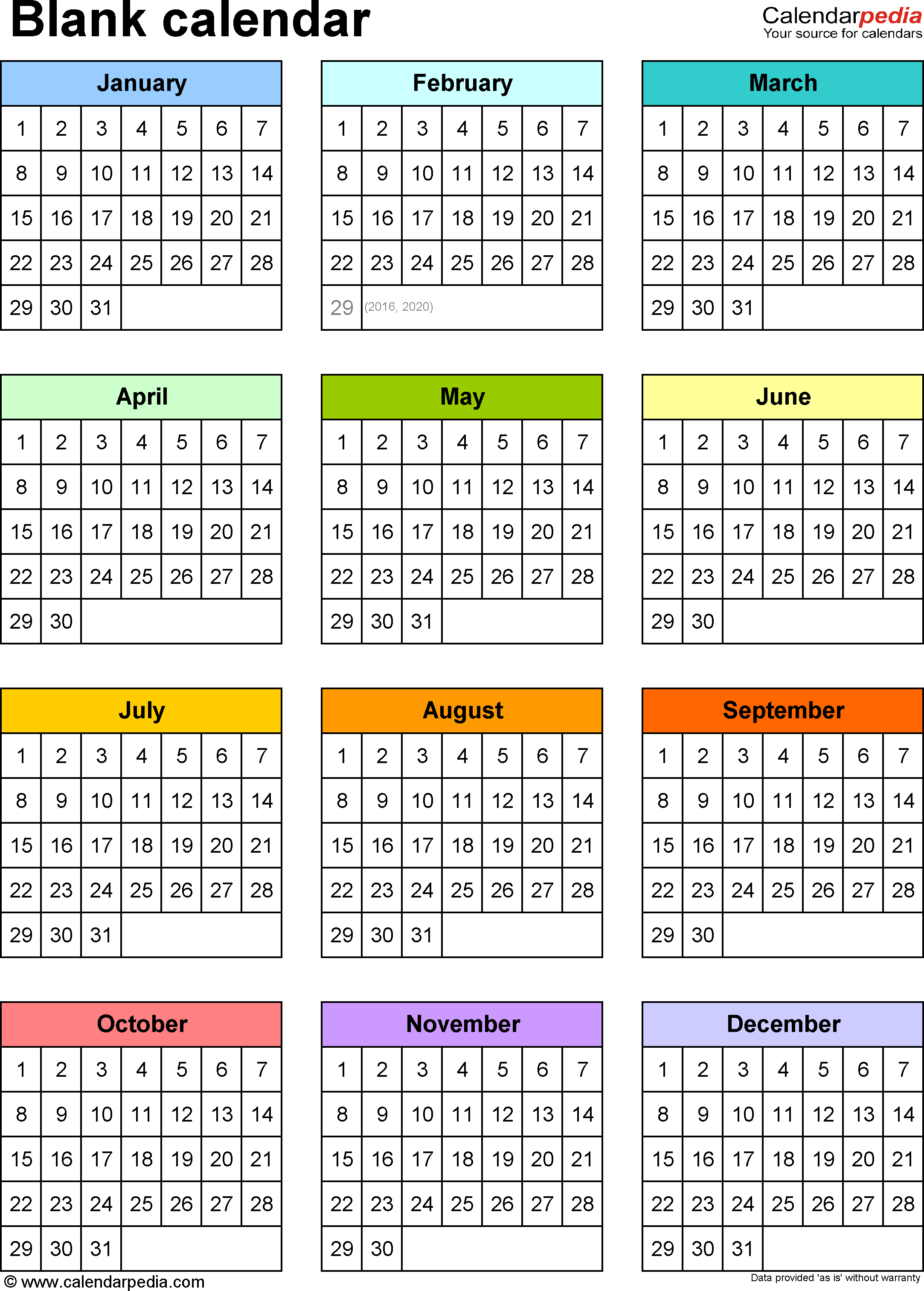 Blank Calendar   Free Printable Microsoft Word Templates With Month At A Glance Blank Calendar Template