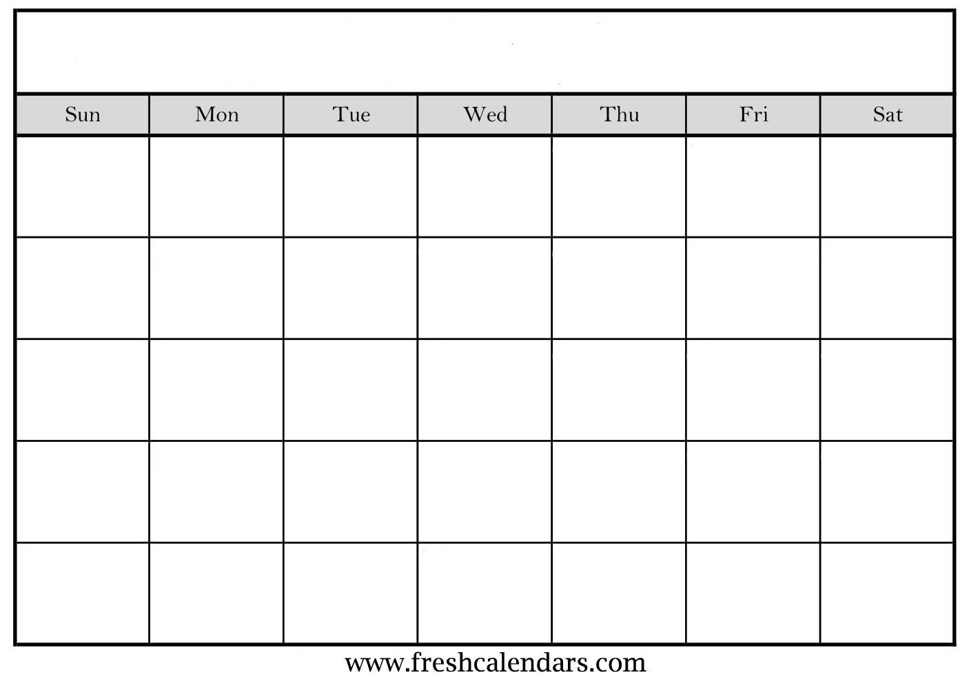 Blank Calendar Wonderfully Printable  Templates Inside Full Page Blank Calendar Template