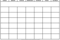 Blank Calendar Wonderfully Printable  Templates pertaining to Blank Calendar Template For Kids