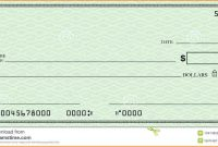 Blank Check Template  Template Business for Editable Blank Check Template