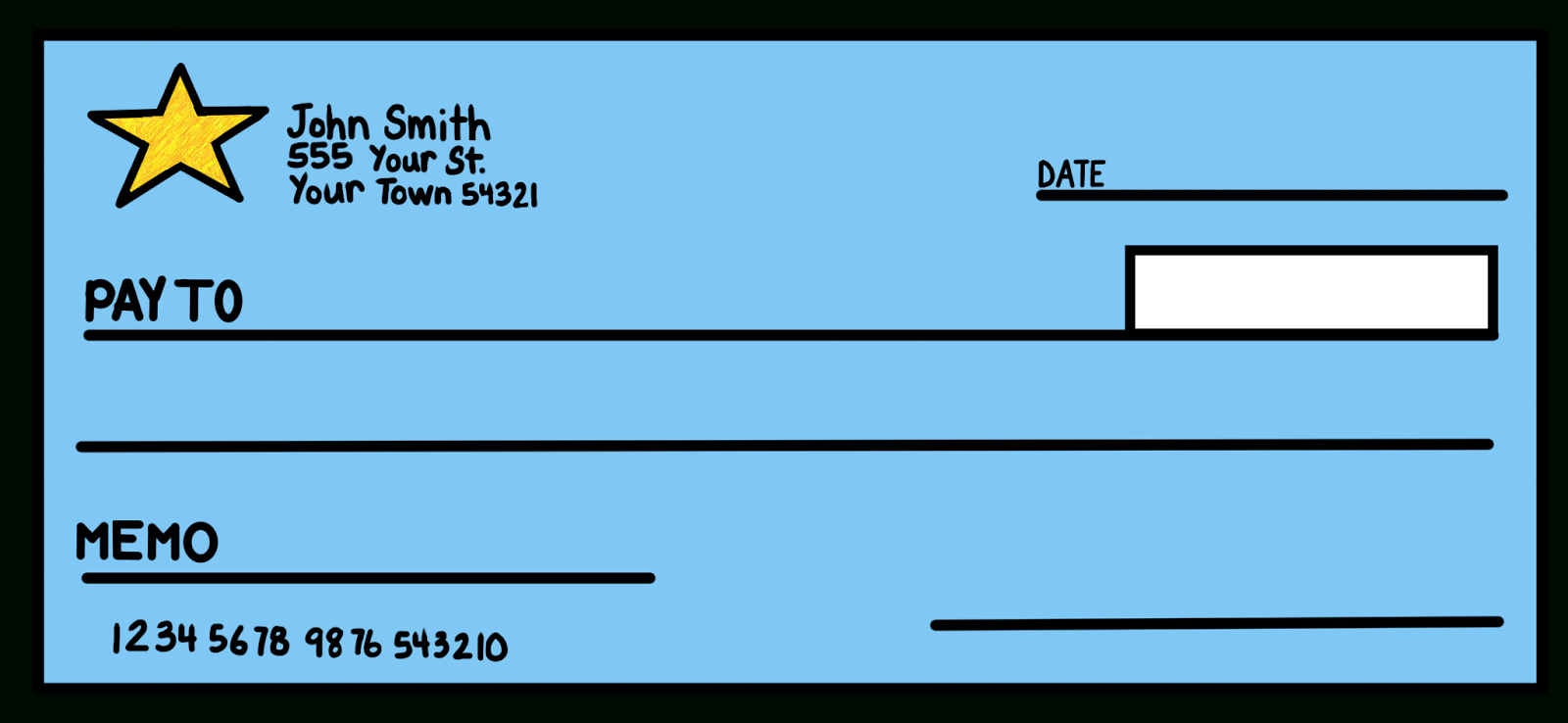 Blank Check Templates  Word Excel Samples Throughout Fun Blank Cheque Template