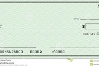 Blank Check With Open Space For Your Text Stock Illustration for Blank Cheque Template Download Free