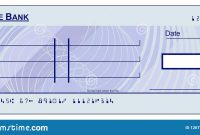 Blank Cheque Stock Illustrations –  Blank Cheque Stock with Large Blank Cheque Template