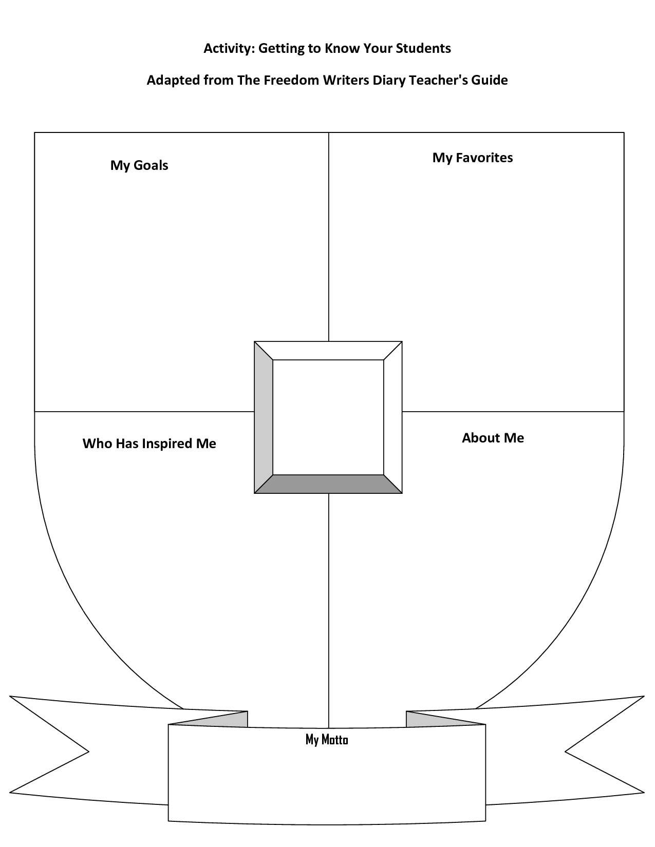 Blank Coat Of Arms Template With Bannersharetemplatedesign Pertaining To Blank Shield Template Printable
