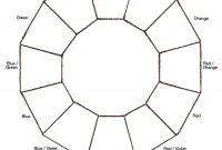 Blank Color Wheel Chart  Templates At Allbusinesstemplates inside Blank Color Wheel Template
