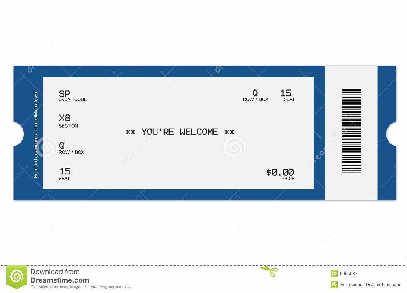 Blank Concert Ticket Template Beautiful Concert Ticket Template With Regard To Blank Admission Ticket Template