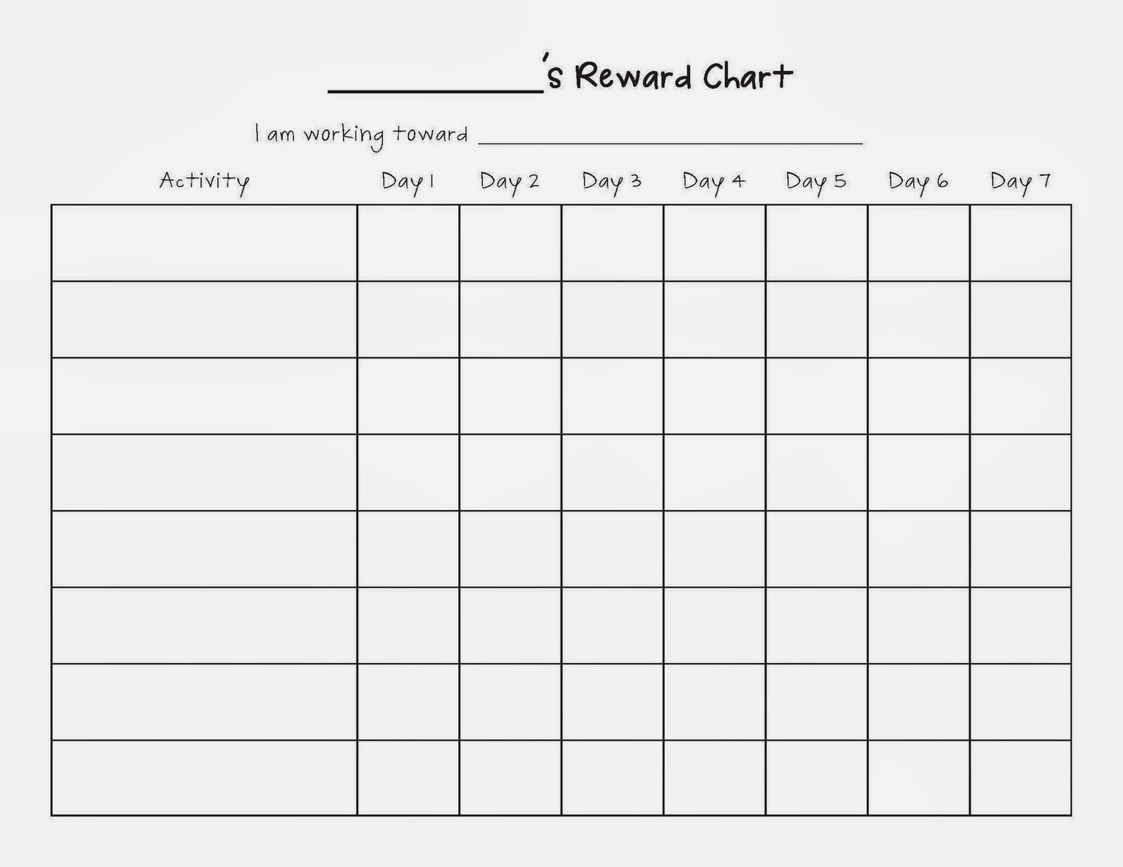 Blank Data Chart  Printable Menu And Chart For Blank Data Chart Intended For Menu Chart Template