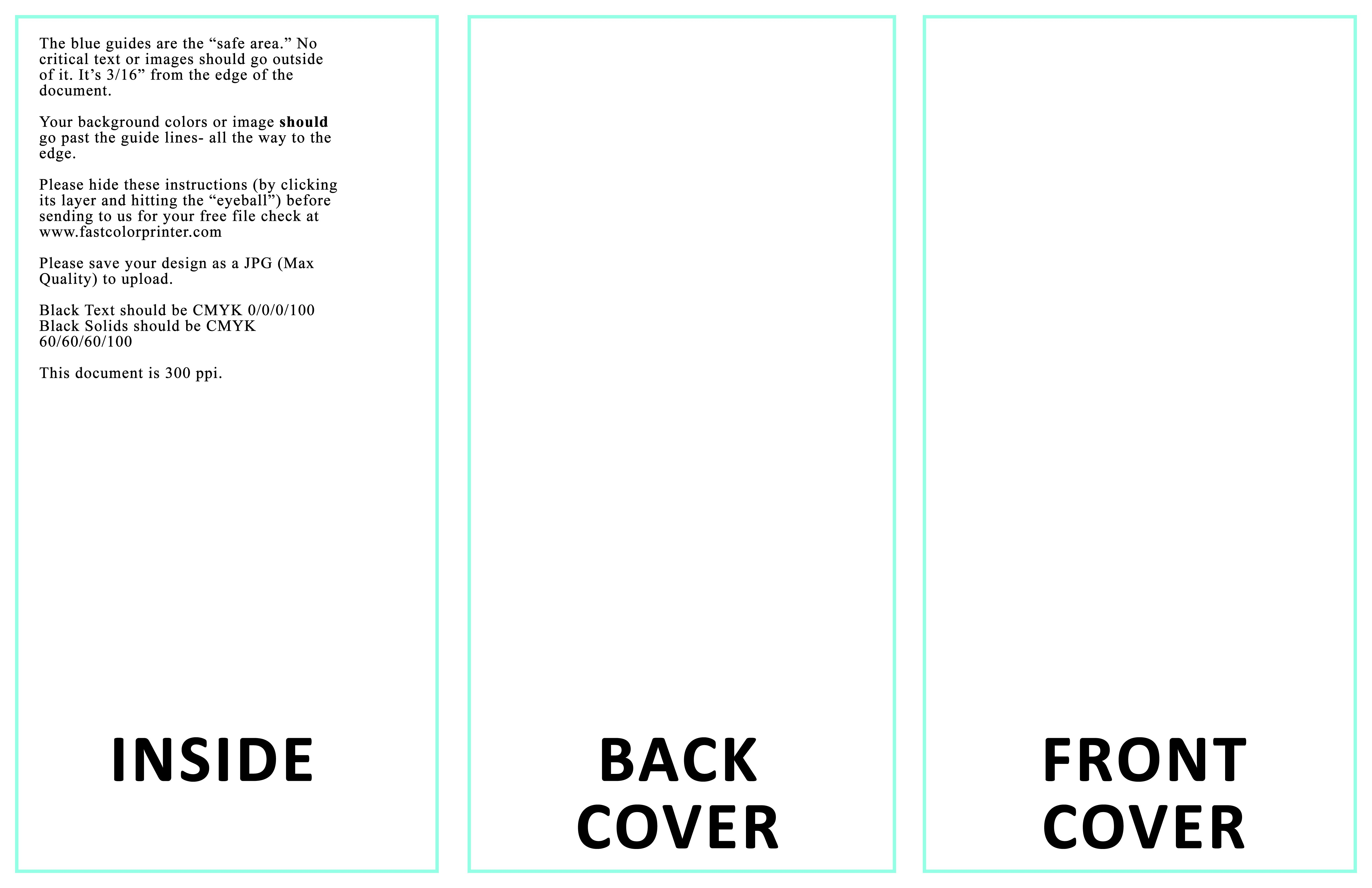 Blank Design Templates Within 8.5 X11 Brochure Template