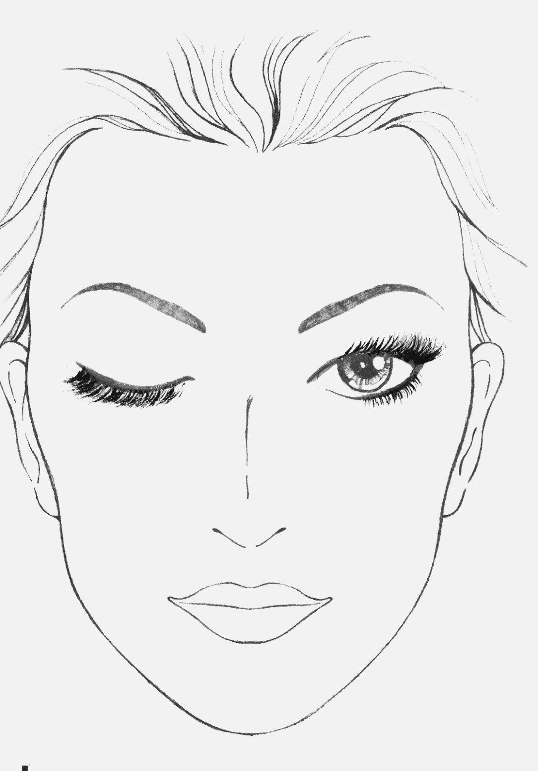 Blank Face Drawing At Paintingvalley  Explore Collection Of In Blank Face Template Preschool