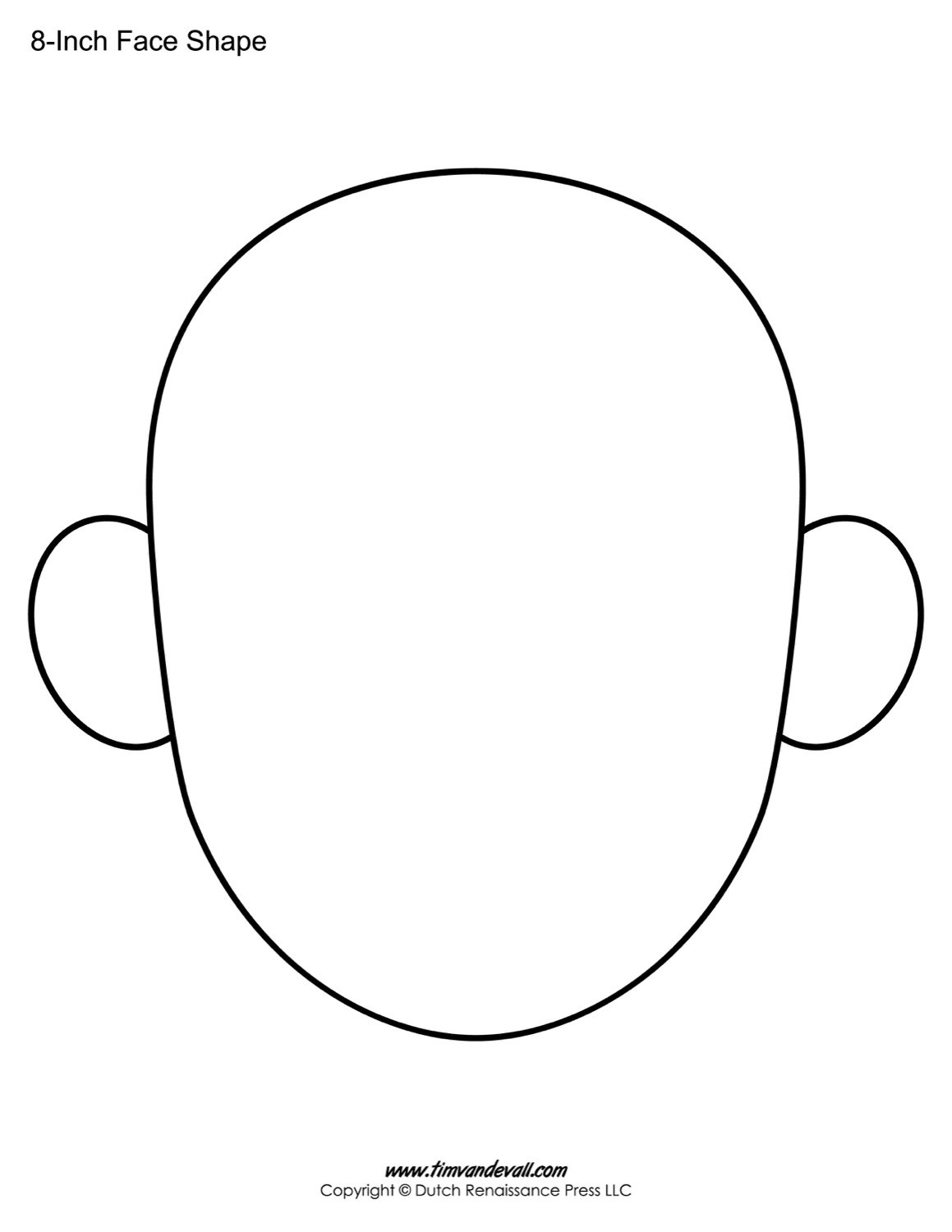 Blank Face Templates  Printable Face Shapes For Kids Within Blank Face Template Preschool
